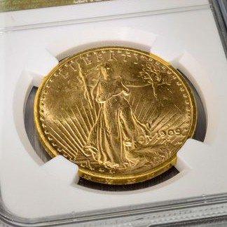 1909-S $20 U.S. Saint Gaudens Head Gold (Date) Coin