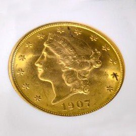 1907 $20 U.S. Liberty Head Gold Coin - Investment