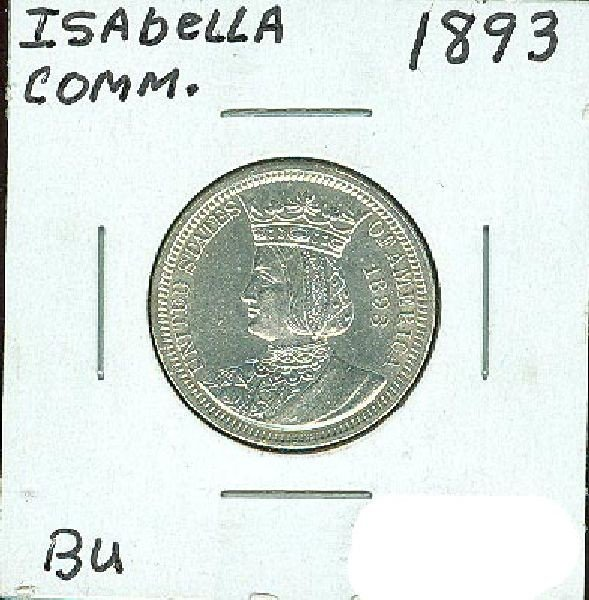 1893 Isabella Quarter Commen BU