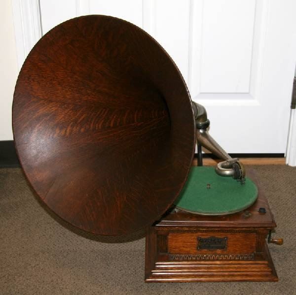Antique Oak Victorian Phonograph-Extremely Rare