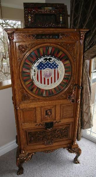 Antique Dewey Upright Slot Machine - PICK UP ONLY