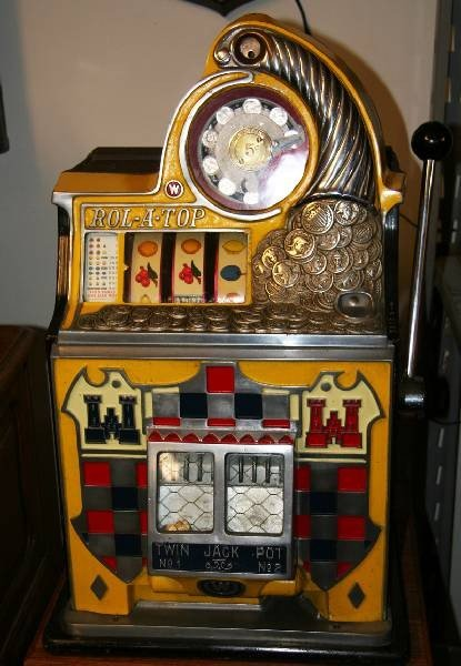 Rol-A-Top 5 Cent Twin Jackpot Slot Machine