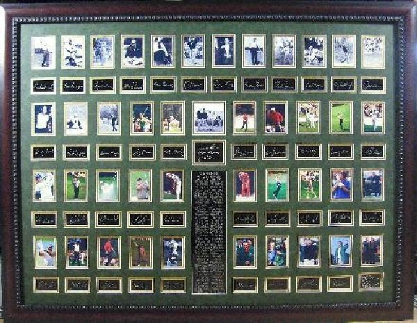 Golf Masters Plate Signed - 1934 to 2011