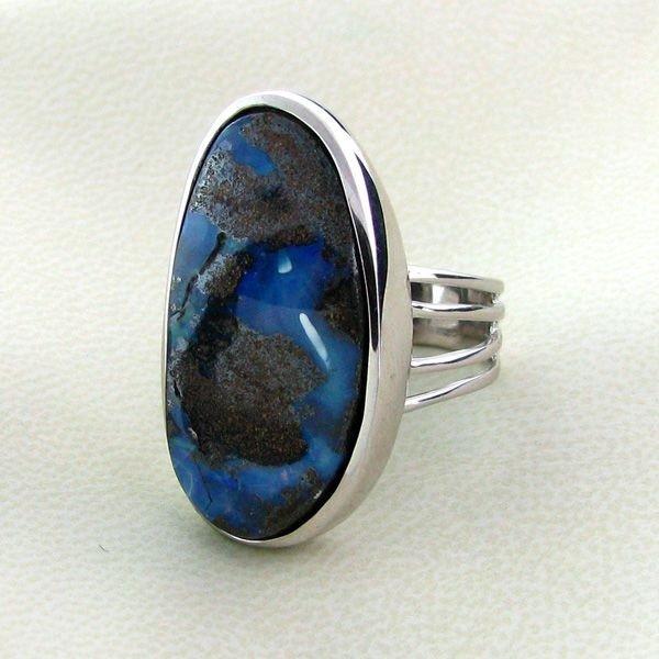 APP: 9.6k 27.64CT Boulder Opal & Sterling Silver Ring