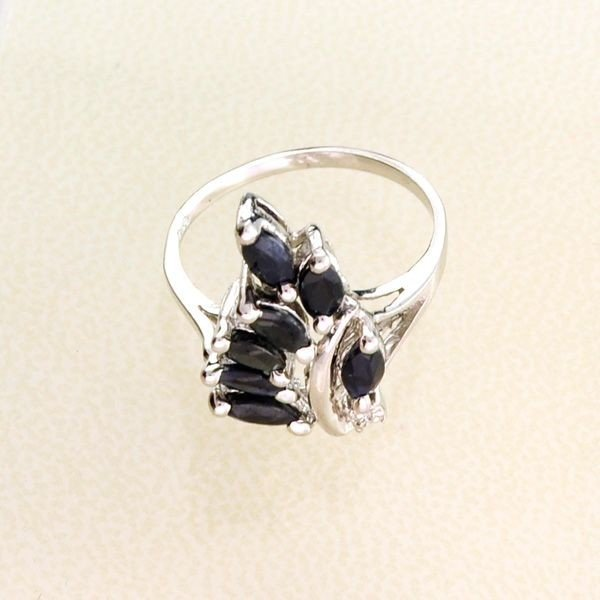 APP: 1.4k 1.75CT Blue Sapphire & Sterling Silver Ring