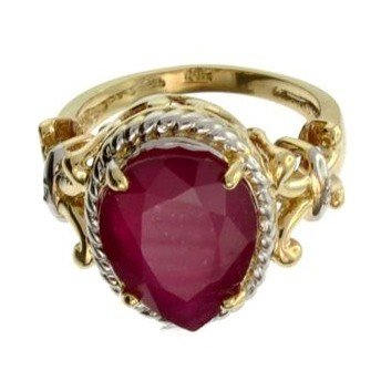 APP: 10.1k 14 kt. Yellow & White Gold, 6.56CT Ruby Ring