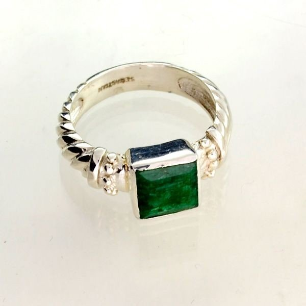 APP: 1k Sebastian 2.48CT Emerald Sterling Silver Ring