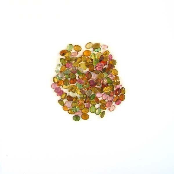 APP: 3k 20CTOval Cut, Multi-Colored Tourmaline Parcel