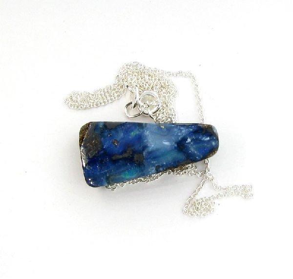 APP: 13.5k Boulder Opal & Sterling Silver Necklace
