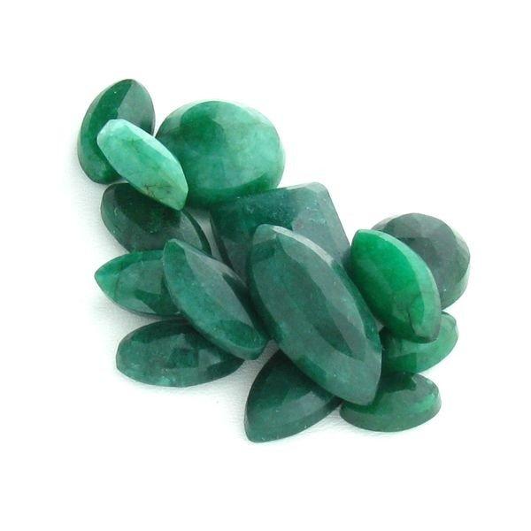APP: 16.3k 96.88CT Mixed Cut Emerald Parcel