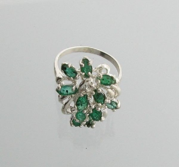 APP: 5.2k 2.29CT Emerald & Sterling Silver Ring