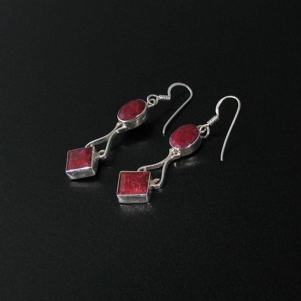 APP: 4.2k 8.60CT Ruby & Sterling Silver Earrings