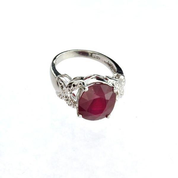 APP: 11.4k 8.54CT Ruby & Sterling Silver Ring
