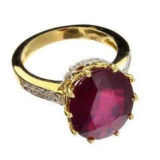 APP: 10.8k 14 kt. Gold, 6.57CT Ruby & Diamond Ring