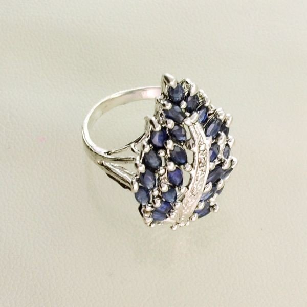 APP: 1.5k 2.99CT Blue Sapphire & Sterling Silver Ring