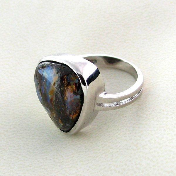 APP: 2.4k 14.85CT Boulder Opal & Sterling Silver Ring