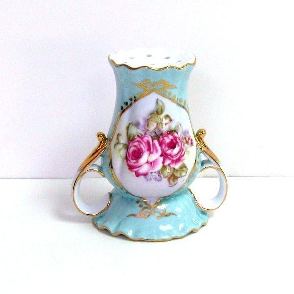 Aqua w/Rose Hat Pin Holder