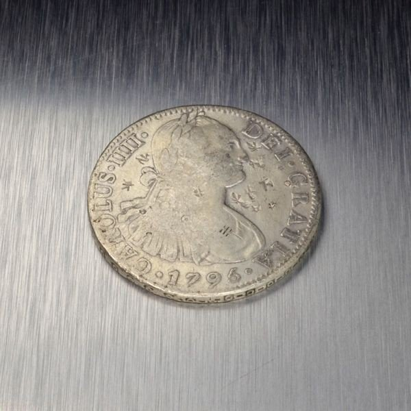 1795 Eight Reales First Silver Dollar Coin - Investment