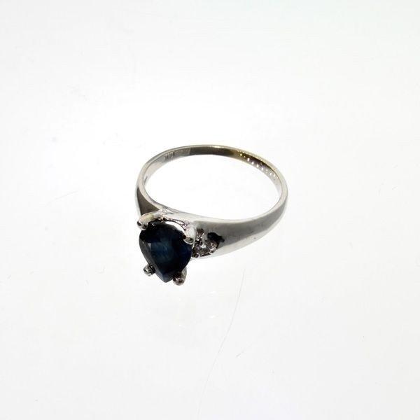 APP: 2k 14kt White Gold, 1CT Sapphire & Diamond Ring