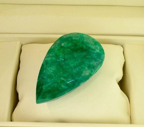 APP: 50.2k 502.00CT Pear Cut Emerald Gemstone