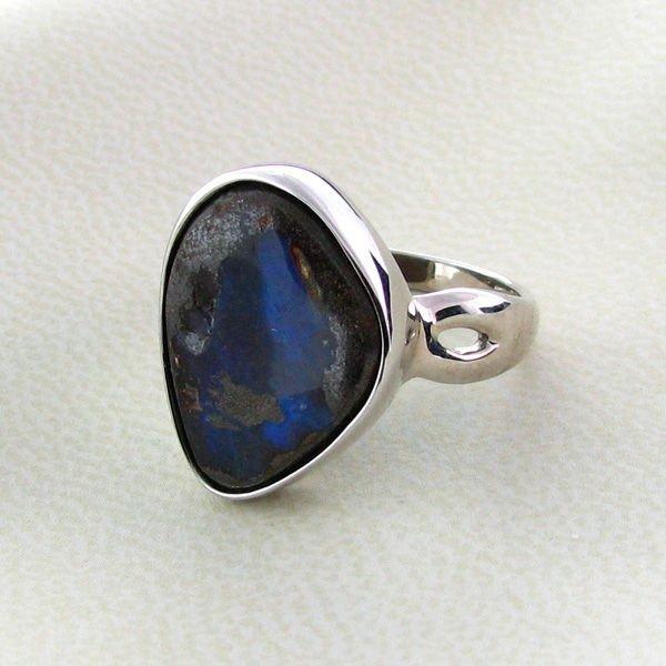 APP: 13.3k 10.68CT Boulder Opal & Sterling Silver Ring