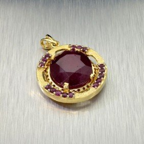 APP: 20k 14 Kt. Gold, 36.50CT Ruby Pendant