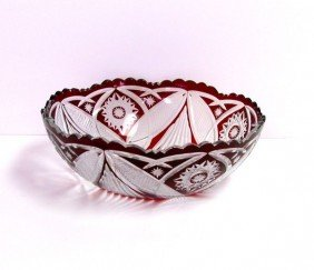 Crystal Red Bowl