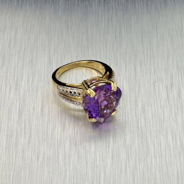 APP: 3k 14kt Yellow & White Gold, 8.22CT Amethyst Ring