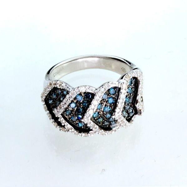 APP: 2k Diamond & Plat Overlaid Sterl Silver Ring