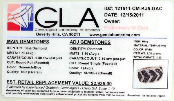APP: 2k Diamond & Plat Overlaid Sterl Silver Ring - 2