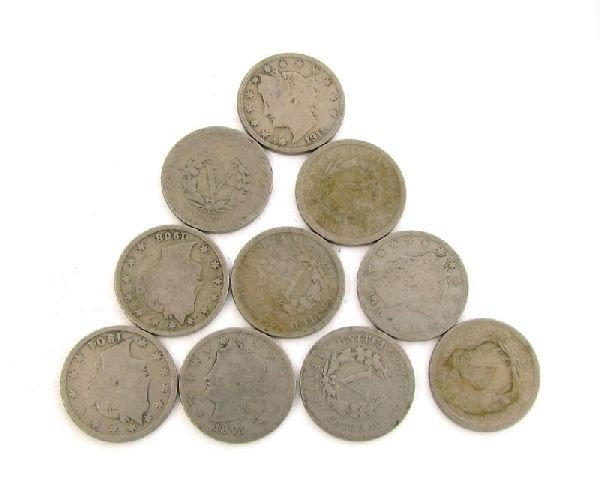 10 Misc. Liberty V Nickel Coin - Investment