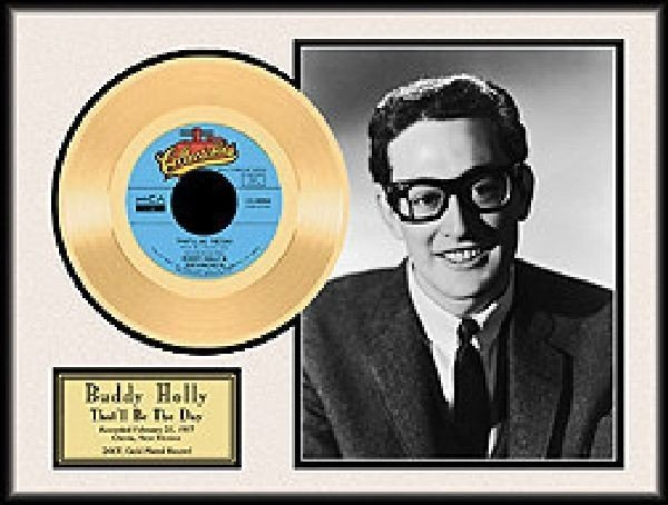 """BUDDY HOLLY """"That'll be the Day"""" Gold Record"""