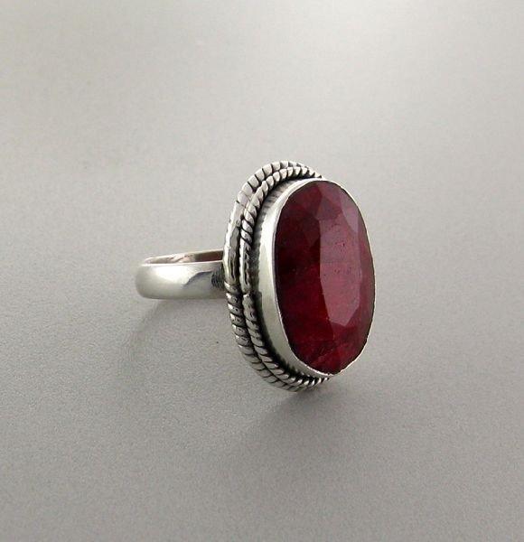 APP: 4.7k 9.57CT Ruby & Sterling Silver Ring