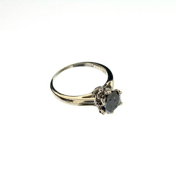 APP: 3k 14kt White Gold, 1.44CT Rare Black Diamond Ring