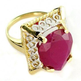 APP: 11.3k 14kt Yellow & White Gold, 10.24CT Ruby Ring