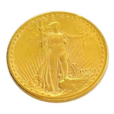 1924  $20 U.S. Saint Gaudens Head Gold Coin