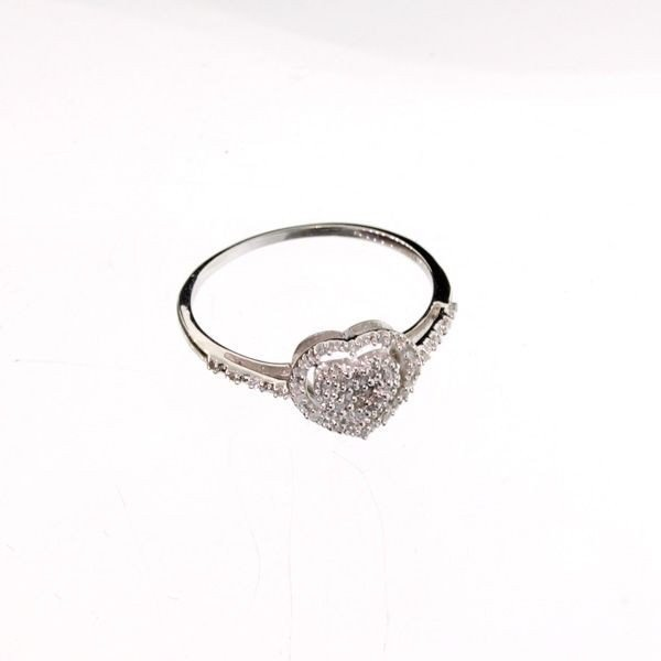 18kt Gold, Diamond & Overlaid Silver Ring