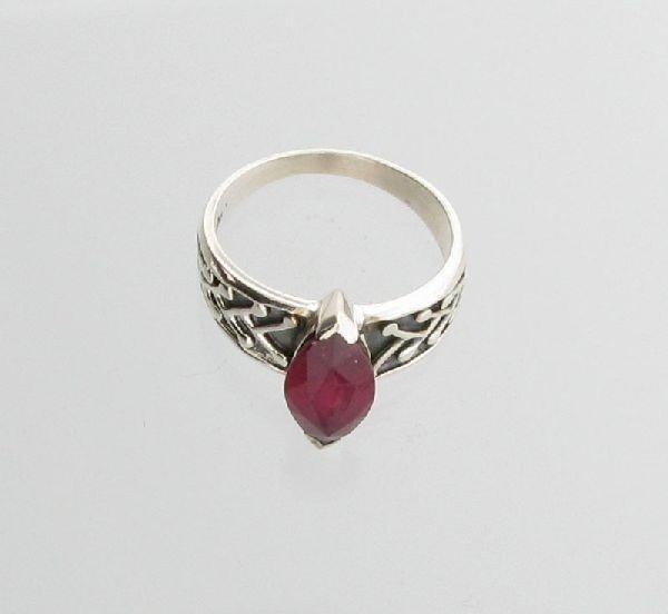 APP: 5.2k Sebastian 3.25CT Ruby & Sterling Silver Ring