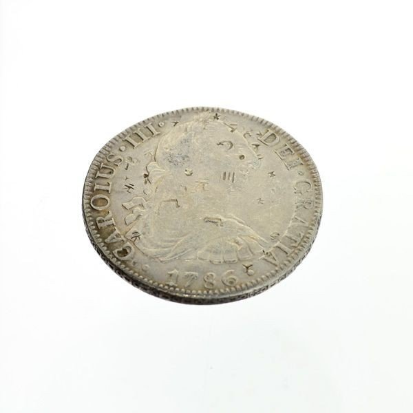 1786 Eight Reales First Silver Dollar Coin - Investment