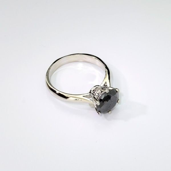 APP: 3k 1k Diamond & Sterling Silver Ring