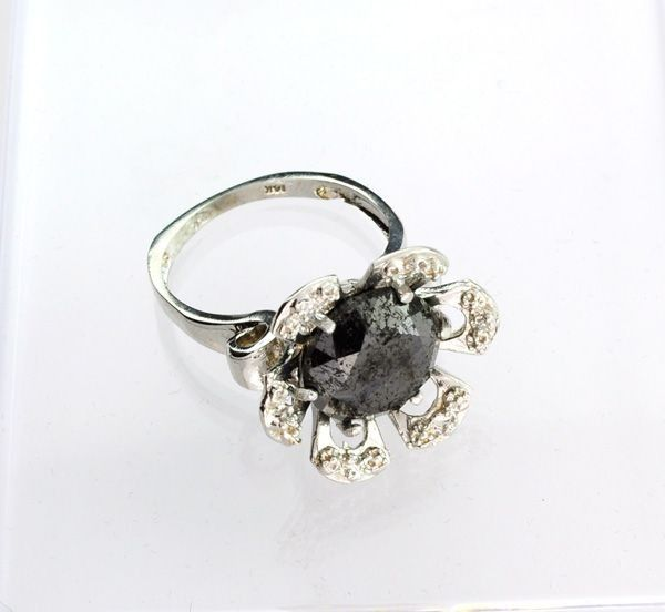 APP: 14k 14kt White Gold, 7k Diamond Ring