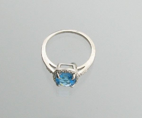 2CT Topaz & Platinum Overlaid Sterl Silver Ring
