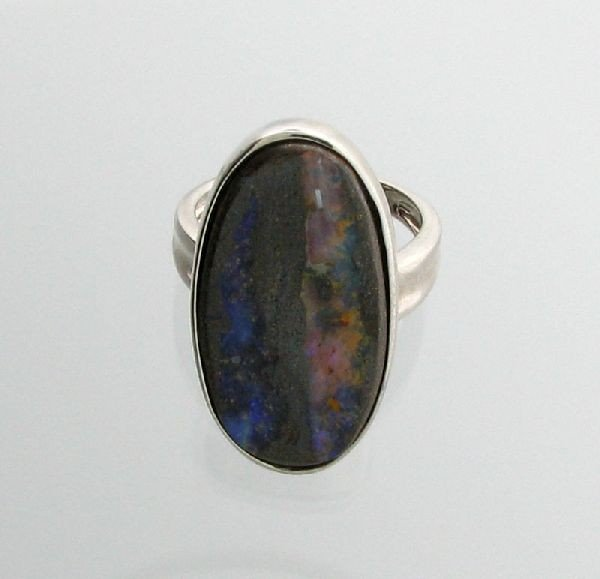 APP: 11.3k 23.36CT Boulder Opal & Sterling Silver Ring