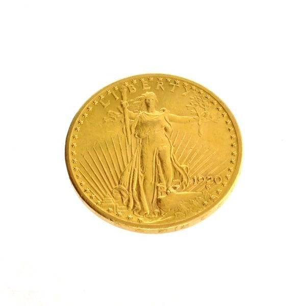1920 $20 U.S. Saint Gaudens Gold Coin - Investment
