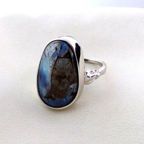 APP: 3.5k 23.39CT Boulder Opal & Sterling Silver Ring