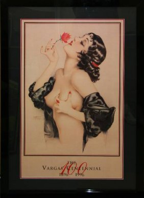 Alberto Vargas Exquisitely Musuem Framed & Matted Print