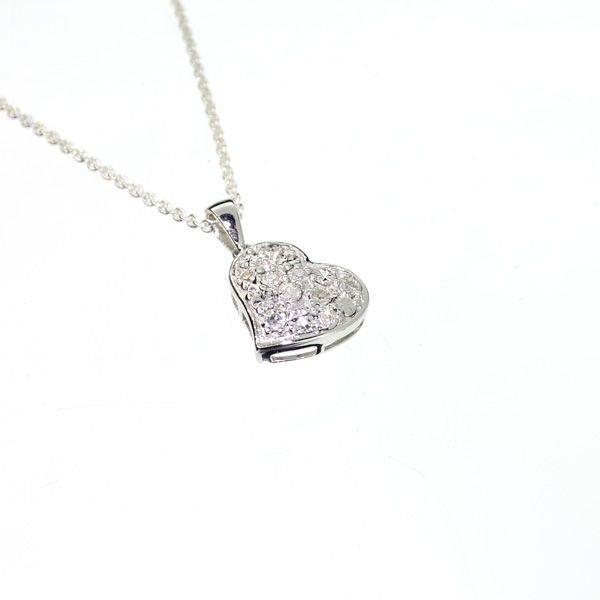 APP: 0k 0CT Diamond & Platinum Sterling Silver Pendant