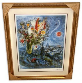 Marc Chagall 'La Dormeuse Aux Fleurs'  Framed & Matted