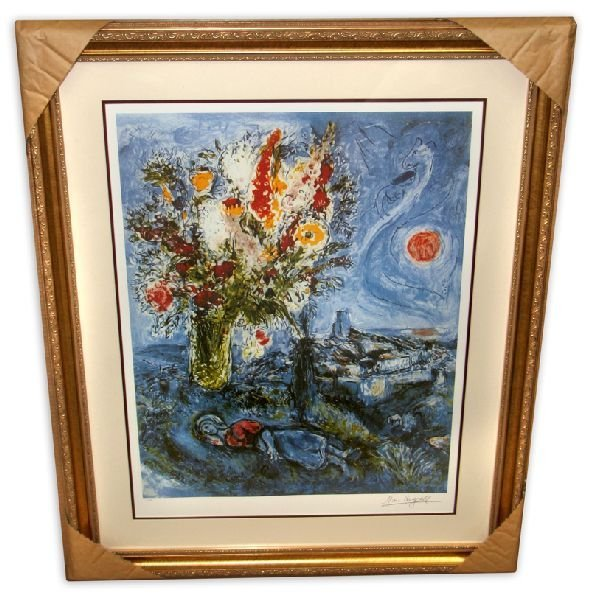 Marc Chagall 'La Dormeuse Aux Fleurs'  Framed & Matted