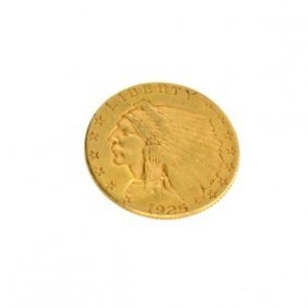 1925-D $2.5 U.S. Indian Head Gold Coin - Investment